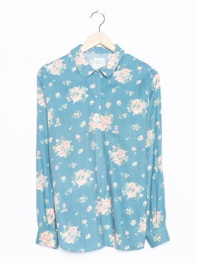 UNITED COLORS OF BENETTON Blumenbluse in M-L in himmelblau, Produktansicht