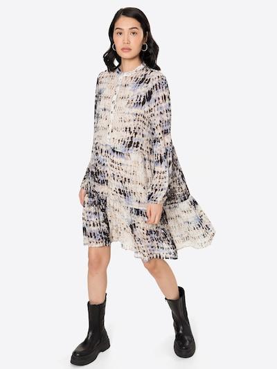 Rochie tip bluză 'Malo' SECOND FEMALE pe bej / albastru violet / negru, Vizualizare model