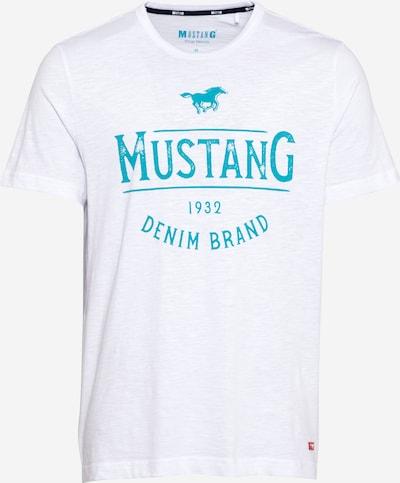 MUSTANG Tričko - vodová / biela, Produkt
