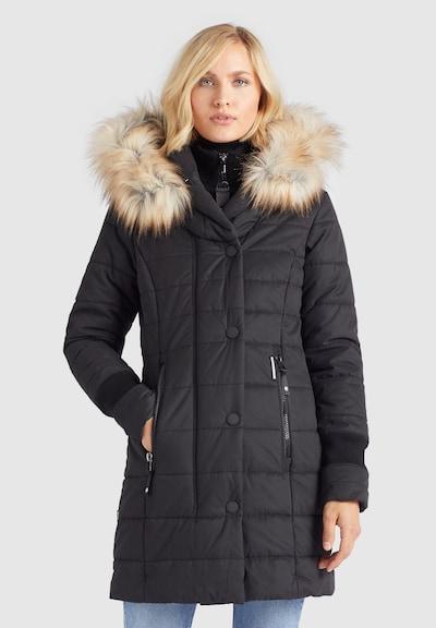 khujo Wintermantel ' Kubra ' in schwarz, Modelansicht