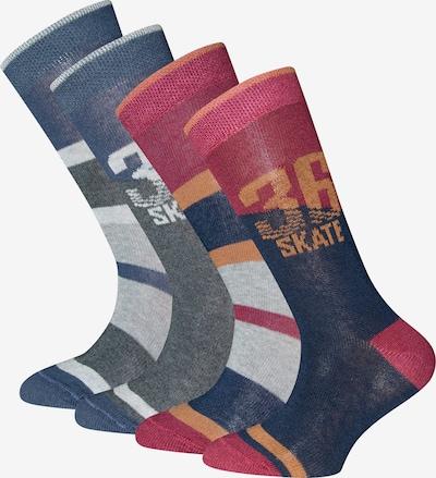 EWERS Chaussettes en gris / rouge foncé, Vue avec produit