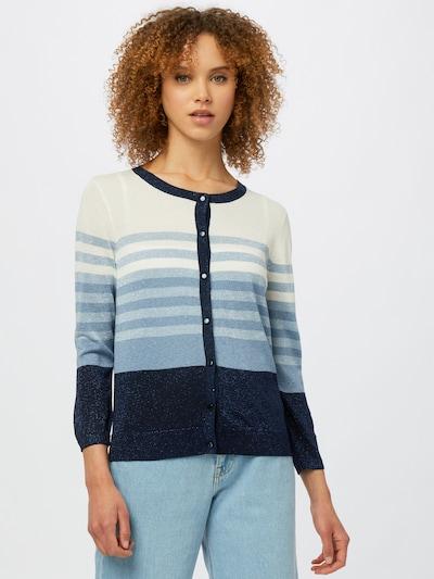 OVS Плетена жилетка в нейви синьо / светлосиньо / бяло, Преглед на модела
