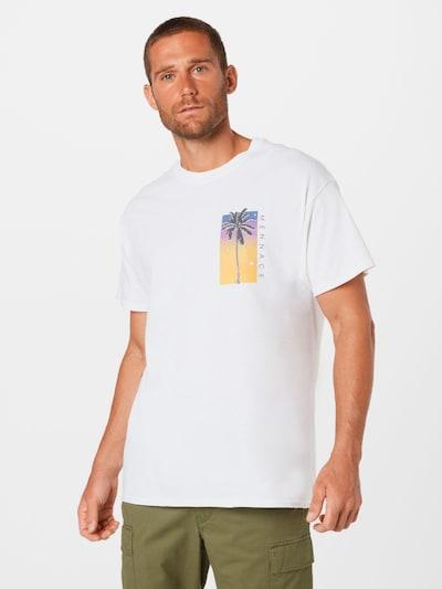 Mennace Тениска в небесносиньо / златистожълто / неоноволилаво / черно / бяло: Изглед отпред