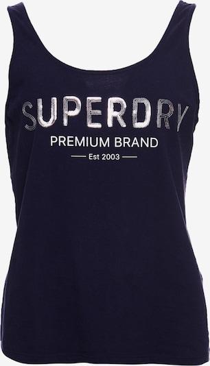 Superdry Tanktop in dunkelblau / weiß, Produktansicht