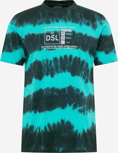 DIESEL Shirt 'JUST' in türkis / schwarz, Produktansicht