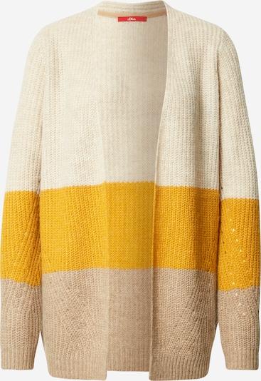 s.Oliver Strickjacke in sand / dunkelbeige / gelb, Produktansicht