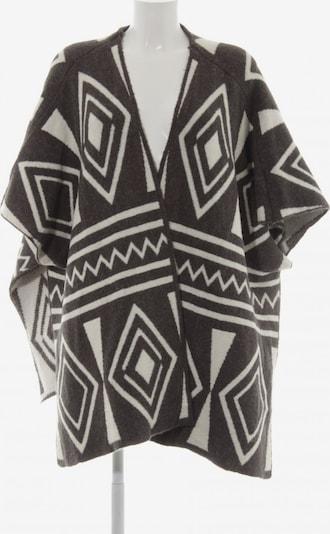 VILA Strickponcho in XS-XL in dunkelgrau / weiß, Produktansicht