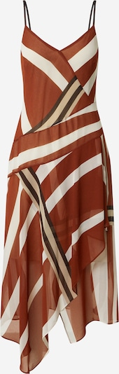 DKNY Dress in chocolate / cappuccino / rusty red / white, Item view