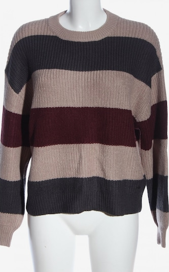 Pull&Bear Sweater & Cardigan in S in Red / Black / Wool white, Item view