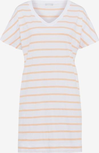 Hanro Nachthemd ' Laura (85cm) ' in de kleur Geel / Wit, Productweergave