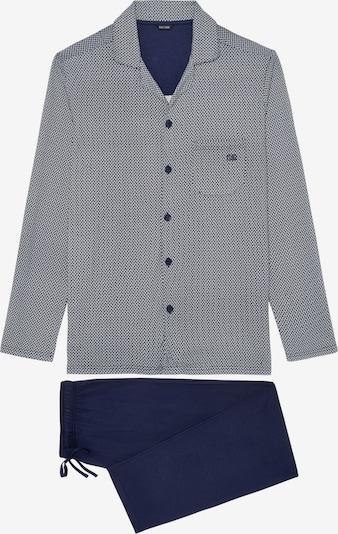 HOM Long Sleepwear ' Rambazamba ' in navy / grau, Produktansicht