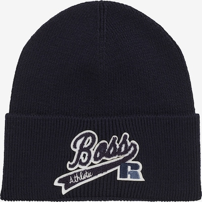 BOSS Beanie 'Floley x Russell Athletics' in Navy / White, Item view