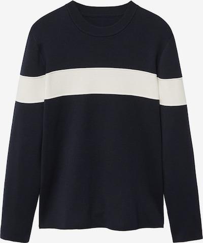 MANGO MAN Pullover in navy / weiß, Produktansicht
