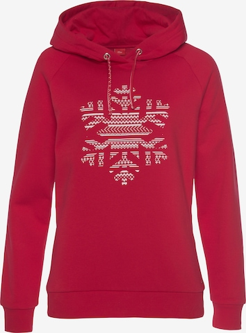 s.Oliver Hoodie in Rot