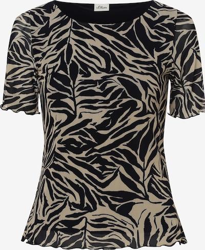 s.Oliver BLACK LABEL Shirt in de kleur Lichtbeige / Zwart, Productweergave