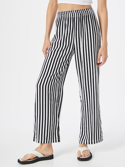 PIECES Hose 'BEMANA' in schwarz / weiß, Modelansicht
