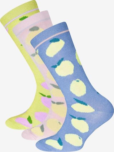 EWERS Skarpety 'Zitronen' w kolorze podpalany niebieski / żółty / benzyna / fioletowy / pastelowy różm, Podgląd produktu