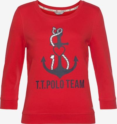 Tom Tailor Polo Team Sweatshirt in rot / schwarz, Produktansicht