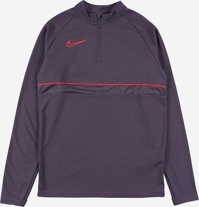 NIKE Sportief sweatshirt in de kleur Aubergine / Knalrood, Productweergave