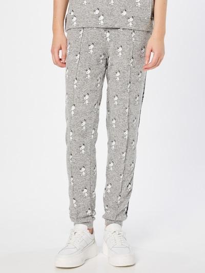 Frogbox Hose in graumeliert / schwarz / weiß, Modelansicht