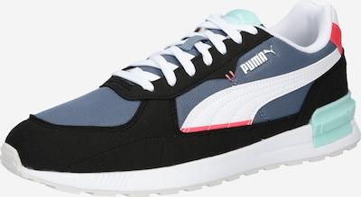 Sneaker low PUMA pe albastru porumbel / verde mentă / portocaliu somon / negru / alb, Vizualizare produs