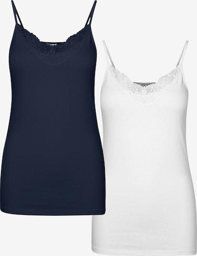 VERO MODA Top 'Inge' en navy / blanco, Vista del producto