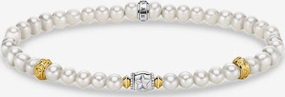 Thomas Sabo Süßwasser Perlen Armband in gold / silber / perlweiß, Produktansicht