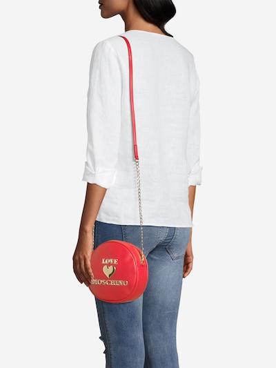 Geantă de umăr Love Moschino pe roșu: Privire frontală