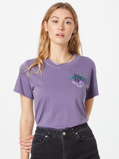 DIESEL Тениска в нефритено зелено / светлолилаво / черно / бяло: Изглед отпред