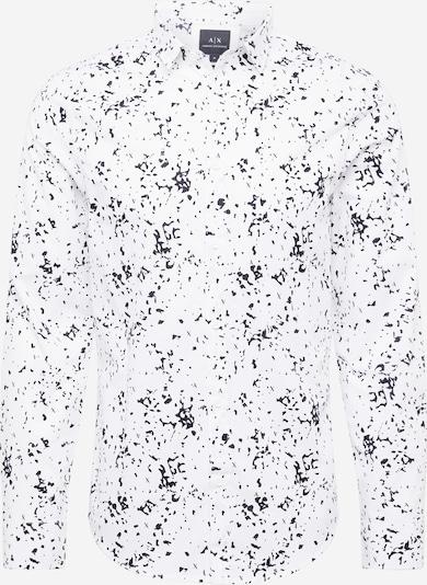 Cămașă ARMANI EXCHANGE pe negru / alb murdar, Vizualizare produs
