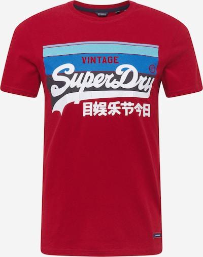 Superdry T-Shirt 'Cali' in navy / himmelblau / hellblau / rot / weiß, Produktansicht