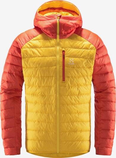 Haglöfs Veste outdoor 'Spire Mimic' en jaune / rouge orangé, Vue avec produit
