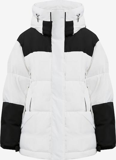 Finn Flare Daunenjacke in schwarz / weiß, Produktansicht