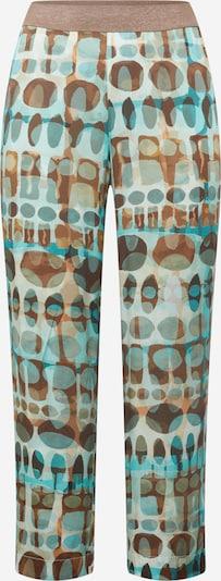 Pantaloni 'Carlotta' SAMOON pe turcoaz / albastru deschis / maro / castaniu / maro coniac, Vizualizare produs