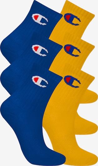 Champion Authentic Athletic Apparel Chaussettes ' 6er-Pack Junior ' en bleu / jaune, Vue avec produit