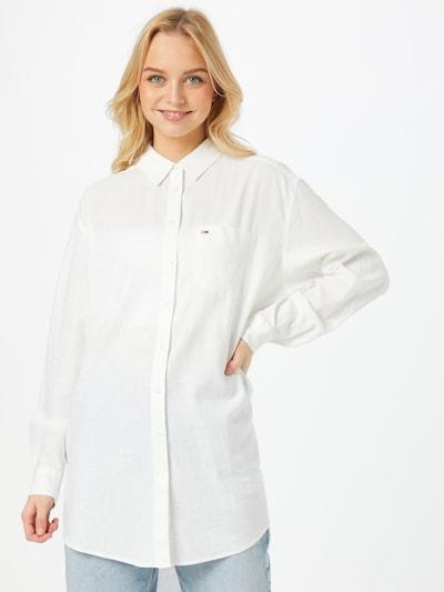 Tommy Jeans Bluse in weiß, Modelansicht