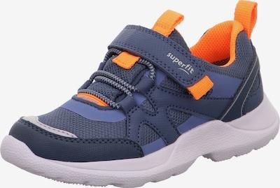 SUPERFIT Baskets 'RUSH' en bleu-gris / bleu foncé / orange, Vue avec produit