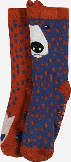 EWERS Socken en dunkelblau / rostrot / weiß, Vue avec produit