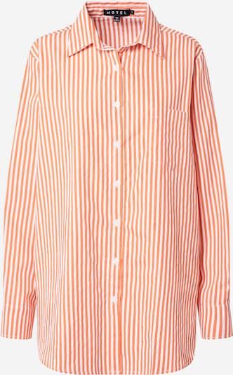 Bluză 'Gane' Motel pe portocaliu caisă / alb, Vizualizare produs