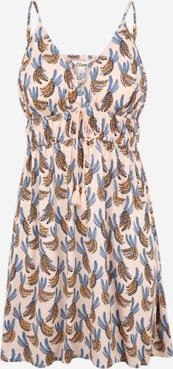 ETAM Nachthemd 'ADELA' in rauchblau / dunkelblau / goldgelb / pastellpink, Produktansicht