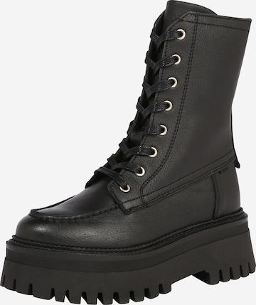 BRONX Snørestøvler i svart