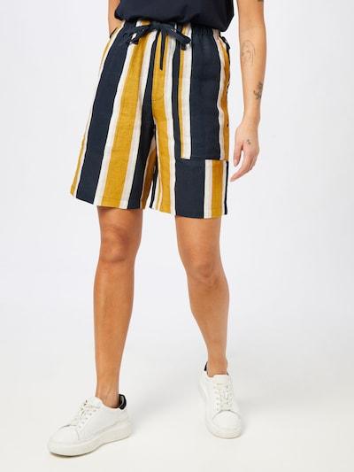 JNBY Shorts in navy / goldgelb / weiß, Modelansicht