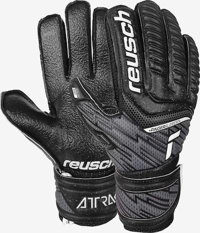 REUSCH Torwarthandschuhe 'Attrakt Resist Finger Support Junior' in schwarz / weiß, Produktansicht