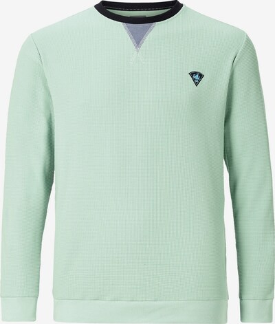Jan Vanderstorm Sweat-shirt 'Ahti' en bleu / gris / vert, Vue avec produit