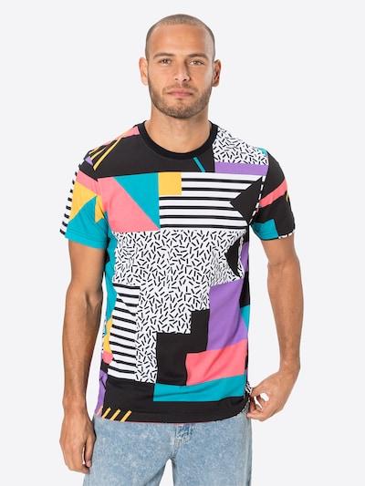 Iriedaily Camiseta 'Theodore' en amarillo / jade / lila / rosa / negro: Vista frontal