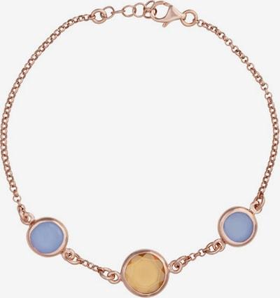 Zoccai Armband in blau / gelb / rosegold, Produktansicht