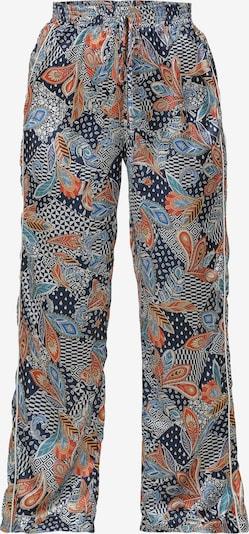 Usha Pantalon en bleu marine / mélange de couleurs, Vue avec produit