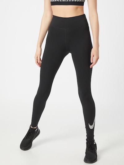 NIKE Sportbroek in de kleur Zwart / Wit, Modelweergave