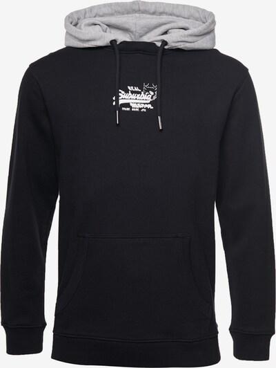 Superdry Hoodie in grau / schwarz, Produktansicht