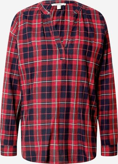 ESPRIT Bluse i navy / rød / lys rød / hvid: Frontvisning